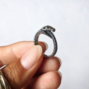 New ring stainless steel snake ouroboros serpent